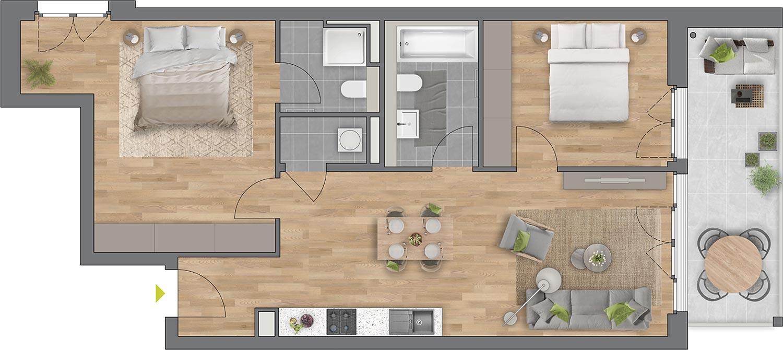 """Beispiel: 3-Zimmerwohnung Haus """"Arbor"""""""