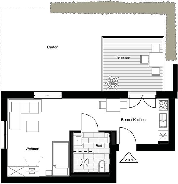 Beispiel: 1-Zimmerwohnung