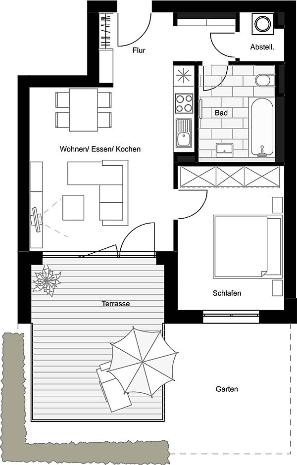 Beispiel: 2-Zimmerwohnung