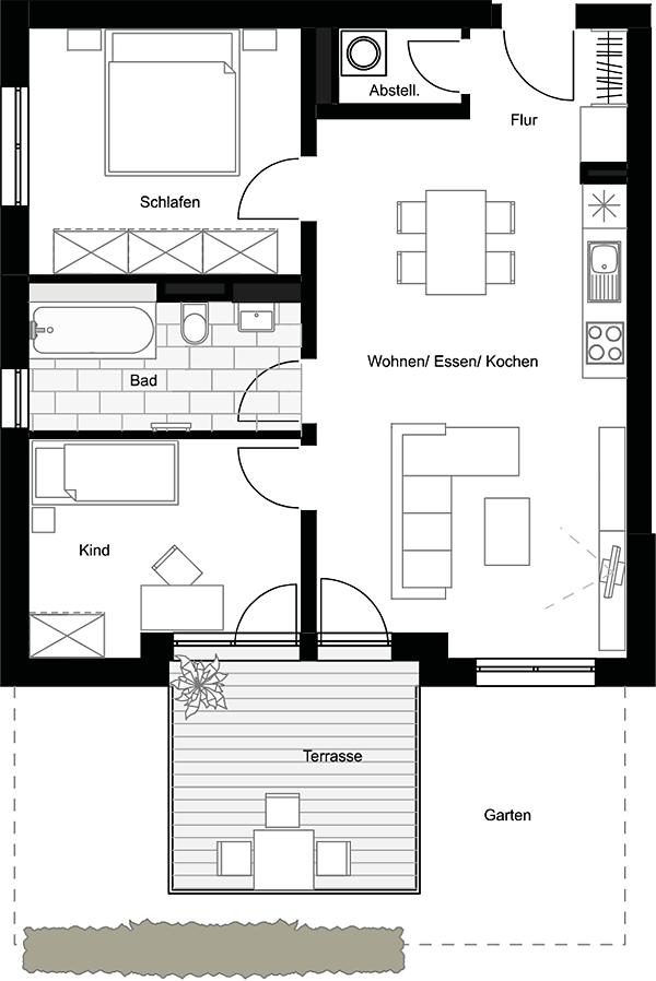 Beispiel: 3-Zimmerwohnung